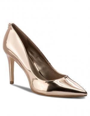 Sieviešu zelta krāsas eleganti augstpapēžu apavi GUESS