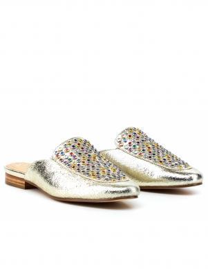 Sieviešu zelta krāsas apavi ar kristālu GUESS