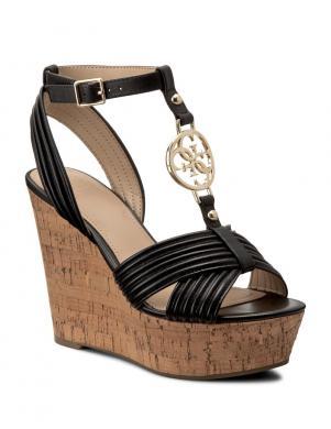 Sieviešu melnas elegantas pilnpapēža sandales GUESS