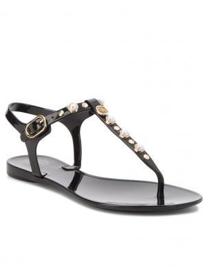 Sieviešu melnas sandales pār pikstu GUESS