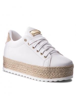 Sieviešu balti brīva laika apavi ar augstu platformu GUESS