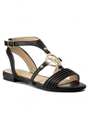 Sieviešu melnas elegantas atvērtas sandales GUESS