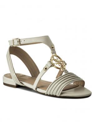Sieviešu krēmīgas elegantas atvērtas sandales GUESS