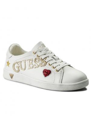 Sieviešu balti brīva laika apavi ar logotipu GUESS