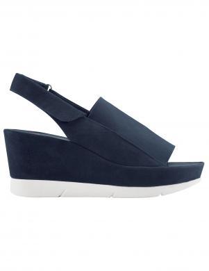 Sieviešu tumši zilas sandales ar viengabala papēdi HOGL