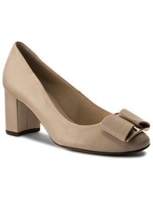 Sieviešu smilšu krāsas eleganti augstpapēža apavi HOGL