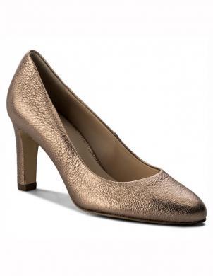 Sieviešu grezni bronzas krāsas ādas augstpapēžu apavi HOGL