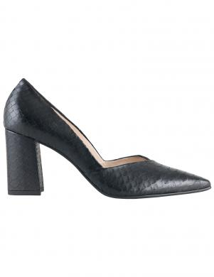 Sieviešu melni čūskas ādas imitācijas apavi HOGL