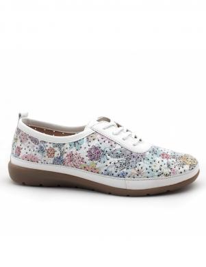 Sieviešu perforēti brīva laika apavi ar ziedu motīvu REMONTE