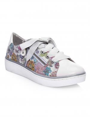 Sieviešu gaiši apavi ar ziedu motīvu REMONTE