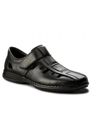 Vīriešu melnas slēgtas sandales RIEKER