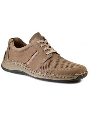 Vīriešu brūni šņorējami apavi RIEKER