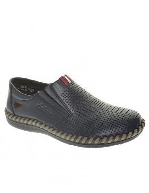 Vīriešu zili perforēti apavi RIEKER