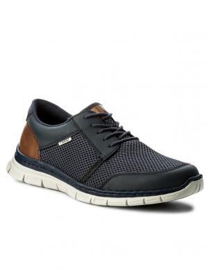 Vīriešu tumši zili brīva laika apavi ar tīkliņu RIEKER