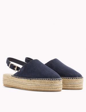 Sieviešu zili uz pusi atvērtas pilnzoles sandales TOMMY HILFIGER