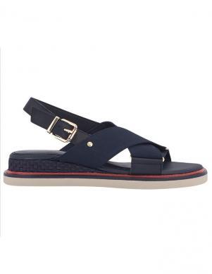 Sieviešu tumši zili brīva laika sandales ar gumiju TOMMY HILFIGER
