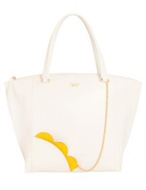 Sieviešu balta ādas soma ar maku TOSCA BLU