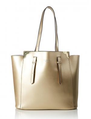 Sieviešu zelta krāsas ādas soma TOSCA BLU