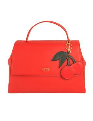 Sieviešu maza sarkana ādas soma TOSCA BLU