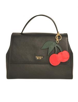 Sieviešu maza melna ādas soma TOSCA BLU