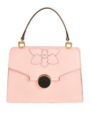 Sieviešu rozā ādas soma TOSCA BLU