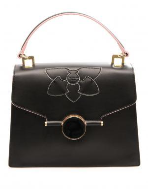 Sieviešu melna ādas soma TOSCA BLU