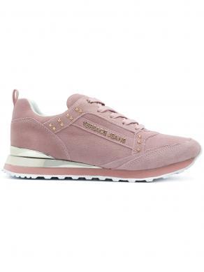 Sieviešu rozā brīva laika apavi ar zelta detaļām VERSACE JEANS