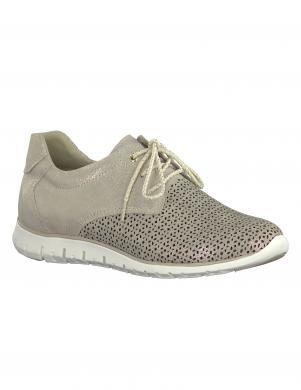 Sieviešu smilšu krāsas perforēti brīva laika apavi MARCO TOZZI