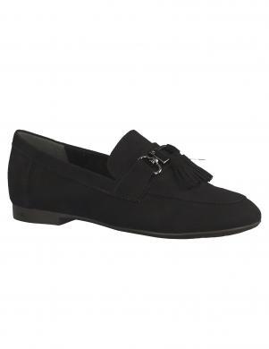 Sieviešu melni klasiski apavi ar bārkstīm MARCO TOZZI