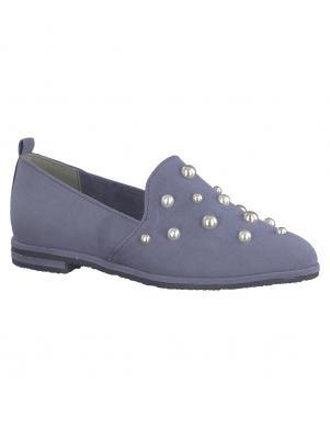 Sieviešu zili eleganti apavi ar pērlēm MARCO TOZZI
