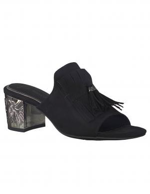 Sieviešu melni eleganti apavi ar metālizētu papēdi MARCO TOZZI