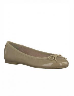 Sieviešu krēmīgi lakoti balerīnas apavi TAMARIS