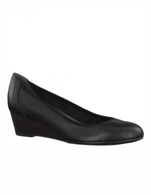 Sieviešu melni ādas klasiski apavi TAMARIS