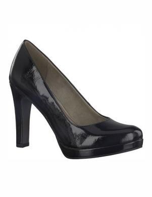 Sieviešu melni spīdīgi augstpapēžu apavi TAMARIS