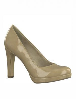 Sieviešu krēmīgi spīdīgi augstpapēžu apavi TAMARIS