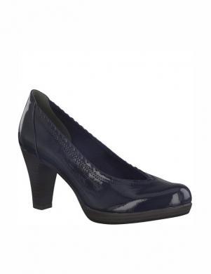 Sieviešu tumši zili lakoti augstpapēžu apavi TAMARIS