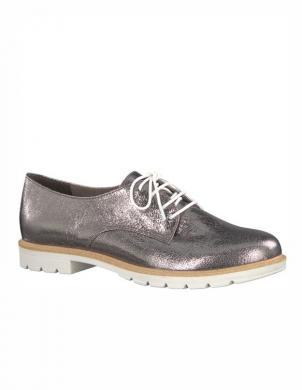 Sieviešu sudraba krāsas oksforda stila klasiski apavi TAMARIS