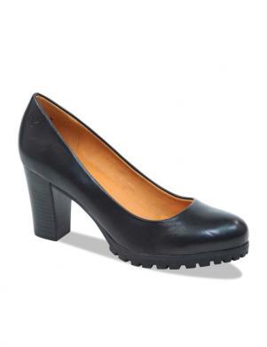 CAPRICE sieviešu melni ādas eleganti apavi
