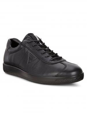 ECCO SOFT 1 MEN'S vīriešu melni ādas brīva laika apavi