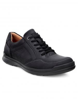 ECCO HOWELL vīriešu melni ādas šņorējami apavi