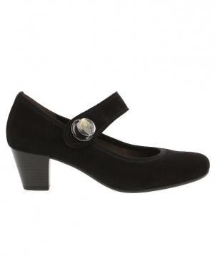 GABOR sieviešu melni apavi ar aizdari