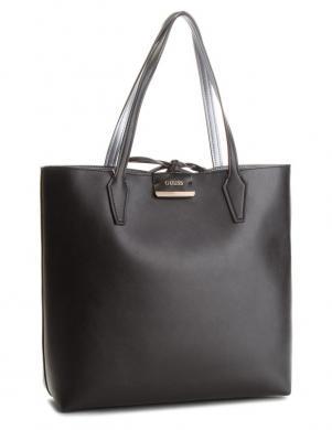 GUESS sieviešu divpusīga melna/sidabrinė soma