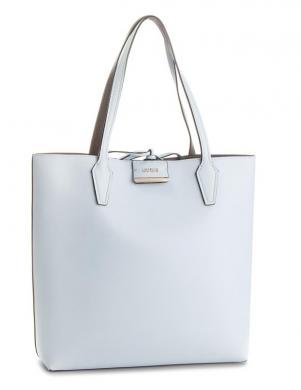 GUESS sieviešu divpusīga zila/pelēka soma