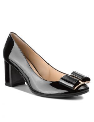 HOGL sieviešu melni lakoti eleganti augstpapēžu apavi
