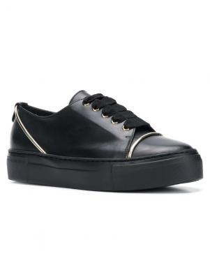 AGL sieviešu melni ādas brīva laika apavi