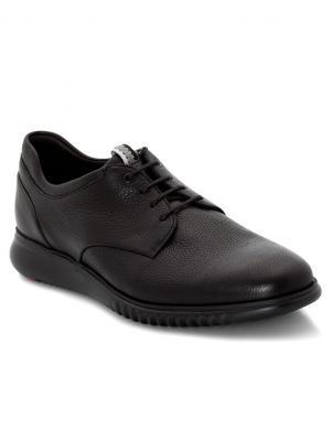 LLOYD vīriešu melni ādas šņorējamie apavi