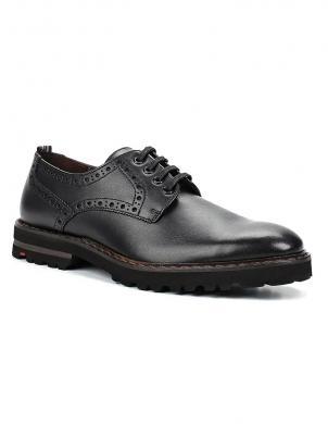LLOYD vīriešu melni eleganti ādas apavi