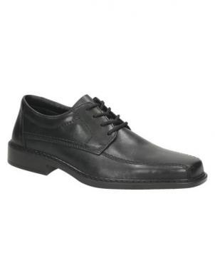 RIEKER vīriešu melni ādas klasiski apavi