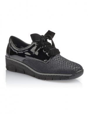 Sieviešu tumši zili šņorējami apavi RIEKER