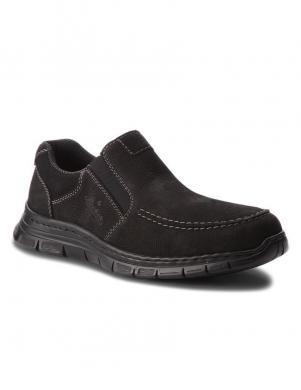 Vīriešu melni apavi RIEKER